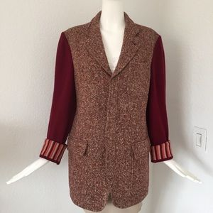 Byblos burgundy Italian wool Jacket